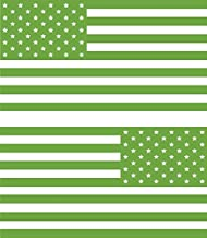 American flag DECALS fits jeep WRANGLER / RENEGADE Rubicon sport imaged (LIME GREEN)
