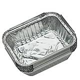10pcs Einweg-Grill Auffangwannen aus Aluminium Foil Fettauffangwannen Recycelbar Grill Fang-Behälter for Weber Outdoor-Lieferungen