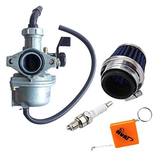 HURI 22mm PZ22 Vergaser Passed für 110ccm 125ccm 140ccm Dirt Bike, Pit Bike, Quad, ATV inkl. 35mm Luftfilter, A7TC Zündkerze