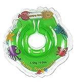 Baby flotador tüv gs cuello flotador (tallas 3–12kg (0–24meses) flotador para bebé de baño ayuda de natación anillo talla mediana iner en pequeño verde