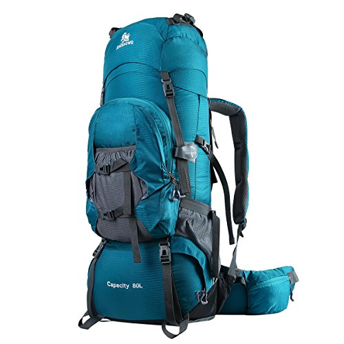 HWJIANFENG Lightweight Backpack 80L Hiking Trekking Backpack Nylon Travel Outdoor for Men...