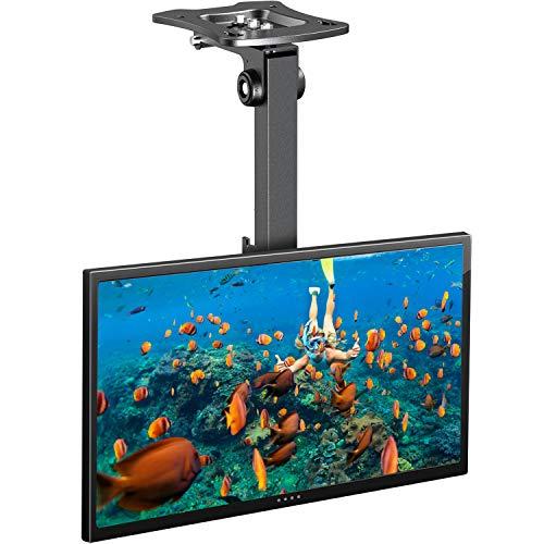 TV Plafond Montagebeugel Draaibaar Kantelbaar Opvouwbaar in hoogte verstelbare TV Plafondbeugel op plat of hellend dak voor 17-39 inch TV of scherm tot 20 kg, max.VESA 200x200mm