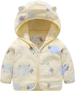 Hoodie Sleepwear+Footwear Outfits,RQWEIN 0-12 Months Infant Boys Girls Cartoon Duck Print Flannel Bathrobes