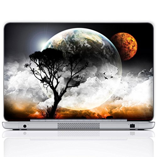 Meffort Inc 15 15.6 Inch Laptop Notebook Skin Sticker Cover Art Decal (Free Wrist pad) - Planet Mars View