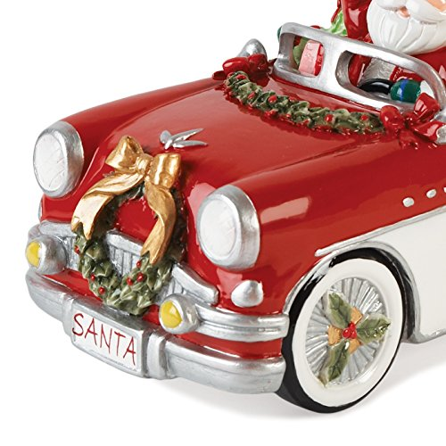 Merry & Bright Collection, Santa in Car 'Here Comes Santa Claus' Musical Figurine