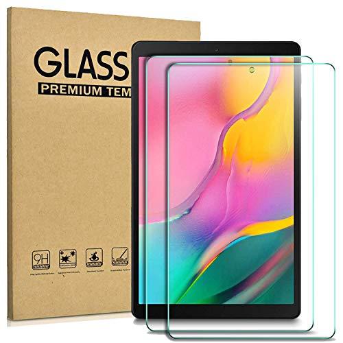 Domxteck 2er Pack Displayschutzfolie fur Samsung Galaxy Tab A T510 T515 101 2019 Kratzfestigkeit 9H Harte 25D Runde Kante aus gehartetem Glas Displayschutz