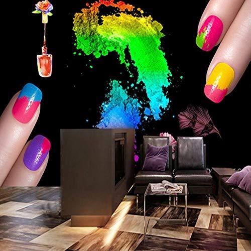 Dalxsh wanddecoratie op bestelling voor de ondergrond van de nagellak-winkel, zwart, kunst, aquarel, uittreksel van behang, 3D-foto 250x175cm