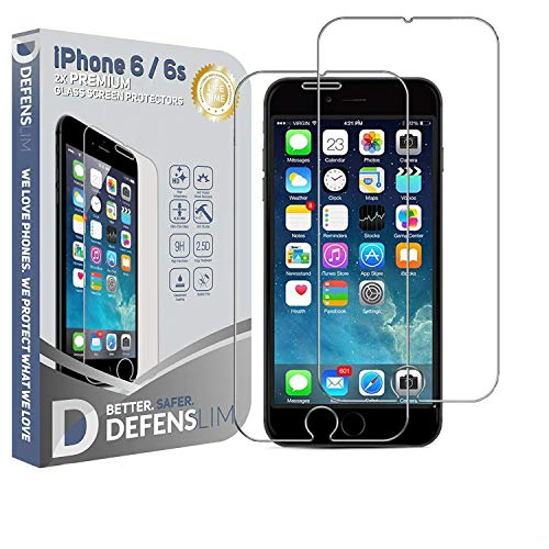 Defenslim iPhone 6s / iPhone 6 Glass Screen Protector [2-Pack] -...