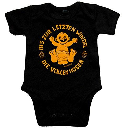 De volle broek tot de laatste luier Black Baby-Body zwart/oranje