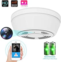 $109 » 1080P Hidden Camera Smoke Detector, WiFi Camera with 180 Days Battery Power, Motion Activated Security Camera with Night Vision, Nanny Camera for Home Security(Video Only)