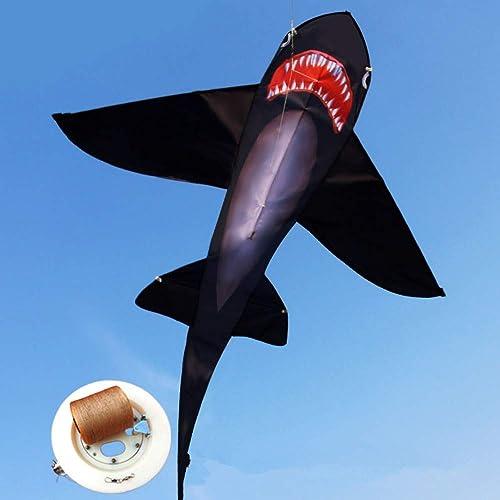 genuina alta calidad YPKHHH Cometa Creativa para Animales Marinos, Adultos, Niños, Tiburones Tiburones Tiburones Grandes con Rueda de línea, línea de 150 m, 155 cm + 160 cm.  comprar nuevo barato