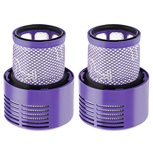 isinlive 2 Pack Vacuum Filter Replacement Compatible with Dyson Cyclone V10 Absolute Animal Motorhead Total Clean, Replaces Part # 969082-01