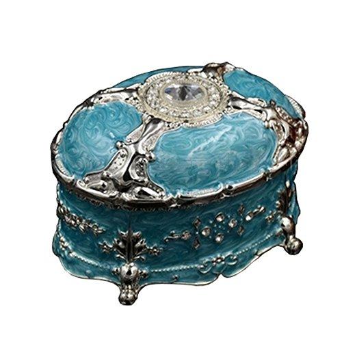 Étui de rangement vert Fashioned Boîte ?bijoux Vieux Coffret ?bijoux de luxe