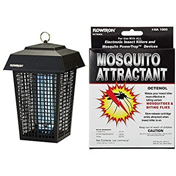 Flowtron BK-40D Electronic Insect Killer 1 Acre Coverage,Black & MA-1000 Octenol Mosquito Attractant Cartridge