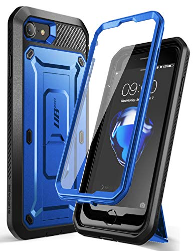 SUPCASE Unicorn Beetle Pro Series Case Designed for iPhone SE 2nd Generation 2020 / iPhone 7 / iPhone 8, Built-in Screen Protector Full-Body Rugged Holster & Kickstand Case (DarkBlue)