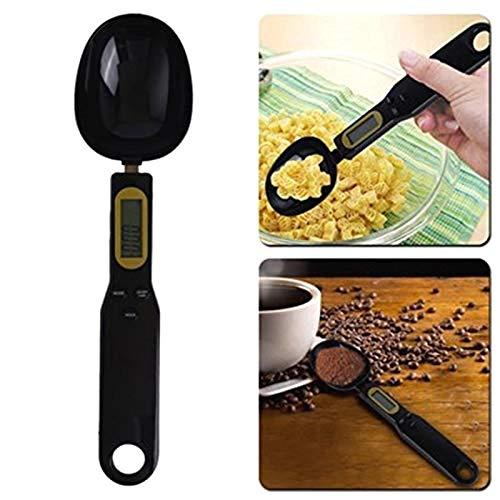 DULALA Cuchara dosificadora de Cocina Escala Digital electrónica de Cuchara 500G / 0.1G Pantalla LCD Báscula Digital de Cocina Suministros para Hornear Negro