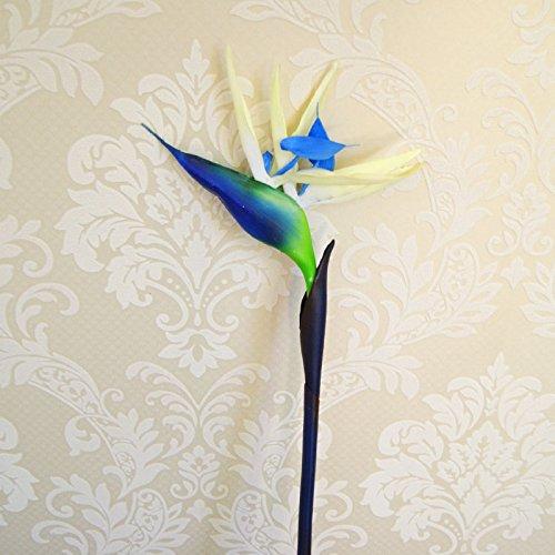 XCZHJ Kunstmatige decoratieve bloemen, namaakbloem, kunstbloemen, voor de woonkamer, vloer, floral display, simulatie van paradijsvogel, kunststof, boeket afzonderlijke bloemen en planten.
