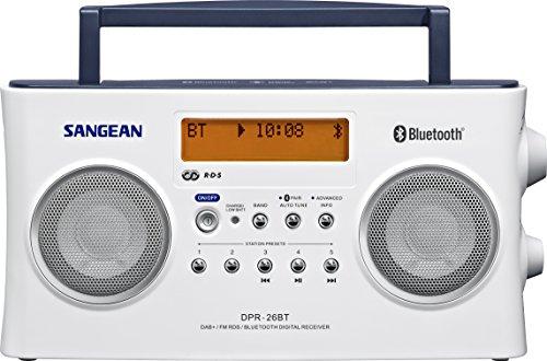 Sangean-DPR-26BT DAB+ Radio | Draagbare Bluetooth radio | Wit