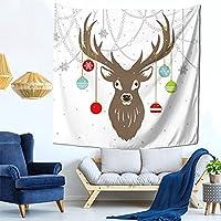 タペストリー クリスマスのトナカイ ポスター インテリア 多機能壁掛け 大判 おしゃれ飾り 装飾アート 個性ギフト 新居祝い 雰囲気転換 模様替え 150cmX150cm