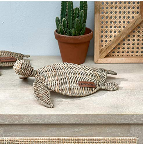 Riviera Maison - Rustic Rattan Happy Turtle - Peddigrohr - Natur - (BxHxL) 22 x 8 x 30 - Gr. M