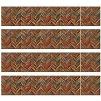 20pcs模造木粒3Dタイル床の壁のステッカーDIYの自己粘着キッチンのドロップシップ (Color : E)