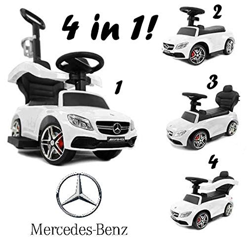 Biemme Mercedes-Benz AMG Push CAR Weiss 4 IN 1