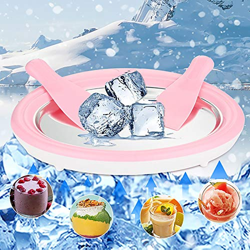 Mini Ice Cream Maker Diy Ice Machine Tray Home Fried Ice Machine Tray Home Ice Cream Maker Food Grade Mat, Fried Ice Machine Fried Yogurt Machine Cream Tray, Parent-child Interactive Game Party Supplies, the Best Gifts for Boys and Girls