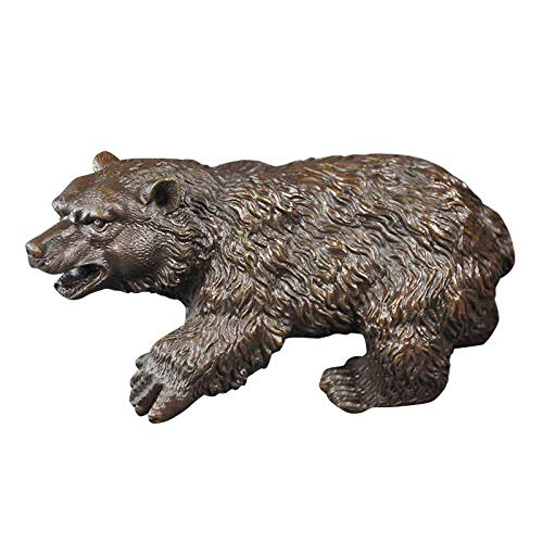 LONGWDS Sculpture Figurine,Figurines,Statue,Statues,Statuette,Sculptures,Outdoor Garden Life Size Wildlife Bronze Brass Grizzly Bear Statue For Bookcase Living Room Courtyard Home Decoration Crafts Fu