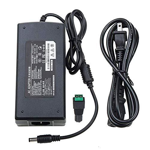 12V 10 Amp Power Supply, FAVOLCANO DC 10A 120W Transformer, 5.5x2.1mm 5.5x2.5mm DC Output Jack for 3528 5050 5630 LED Lights Strips, 3D Printer, LED Driver, Laptop, CCTV Cameras