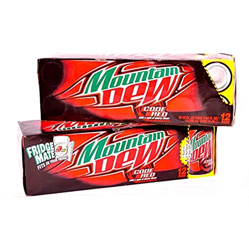 Mountain Dew Code Red Soda 12oz Can (Pack of 24)