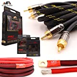 Elite Audio 4 Gauge 100% Copper Pro Amp Kit EA-PROK4 4000 Watt Complete OFC Amplifier Installation Wiring Kit w/ 20 feet 0 Ga Copper Wire, 2-Channel Copper RCA Interconnects, 12 Gauge OFC Speaker Wire