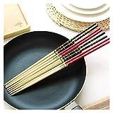 YUANLIN Palillos 1 parines Super Largos Palillos cocinar Fideos fritos fritos Hot Bote Tradicional Chino Estilo bambú Restaurante casa Cocina Palillos Chinos Principiantes (Color : Random)
