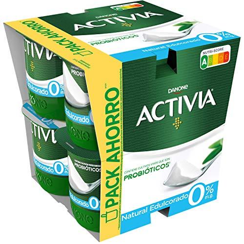 Activia Yogur 0%, Natural Edulcorado, 8 x 120g