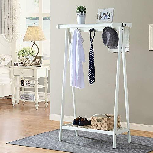 Staande kapstok European Style Coat Racks hangers staan slaapkamer woonkamer kledinghanger massief hout moderne eenvoud 150 * 46 * 84,5cm A ++ (kleur: 1#) 2#