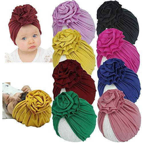 Yili Maizi - Gorro de algodón para bebé recién nacido, diseño de turbante - rojo - talla única