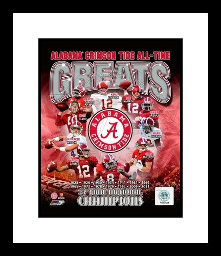 Alabama Crimson Tide All Time Greats NCAA Framed 8x10 Photograph National Champs Collage