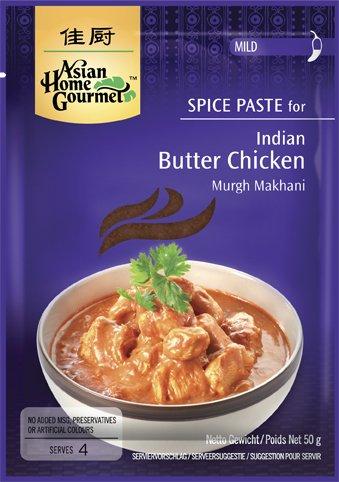 ASIAN HOME GOURMET 3er Pack Gewürzpaste für Indisches Butter Hühnchen [3x 50g]