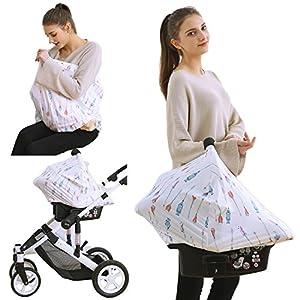 Nursing Breastfeeding Cover Baby Carseat Canopy