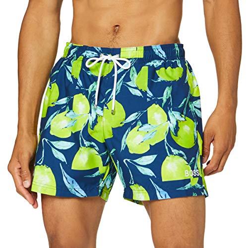 BOSS Herren Lemon Shark Boardshorts, Open Blue461, XL