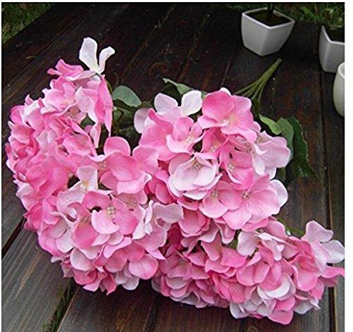 fendii 7-heads Bouquet Seide Blumen Künstliche Hortensie Home Hochzeit Dekoration Weiß