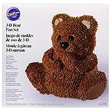 Teglia per torta con orsacchiotto in 3D, 22 cm x 25 cm x 15 cm.