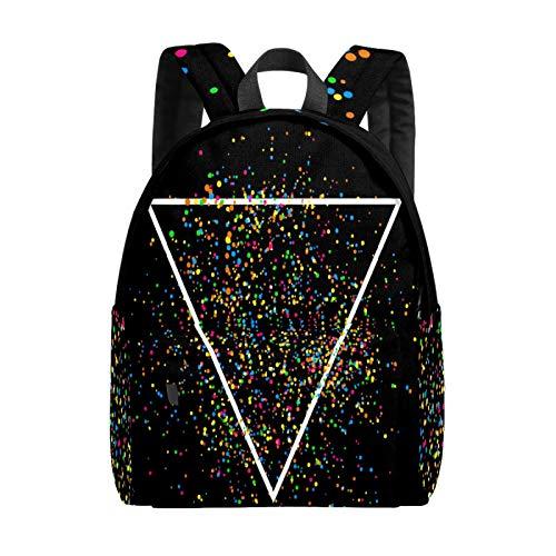 Bolsa grande para portátil abstracta con confeti de triángulo colorido para niñas, ligera, bolsa de viaje, mochila para ordenador portátil, para niños, hombres y mujeres