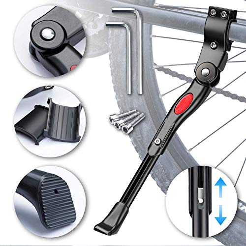 Timebox Bike Kickstand Adjustable Universal Aluminium Bicycle Kickstand Fit for 22
