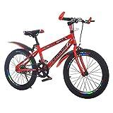 MQJ Bicicleta de Montaña con M de Acero de Alto Carbono, 20 (22, 24) Pulgadas Bicicleta de Montaña para Niños, Bicicletas Antideslizantes,Rojo,20 en