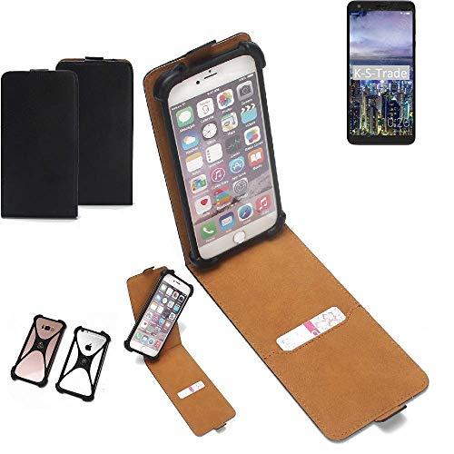 K-S-Trade® Handy Schutz Hülle Für Sharp B10 Schutzhülle Bumper Schwarz 1x