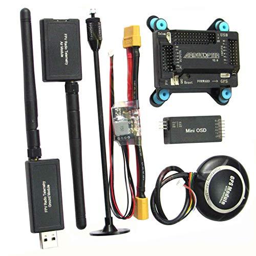 powerday APM2.8 controlador de vuelo M8N GPS 3DR 433Mhz telemetría OSD APM módulo de potencia para F450 S500 RC Drone Multirotor DIY Quadcopter