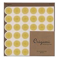 オリガミオリガミ(折り紙)15角 レース柄 黄色 34367006