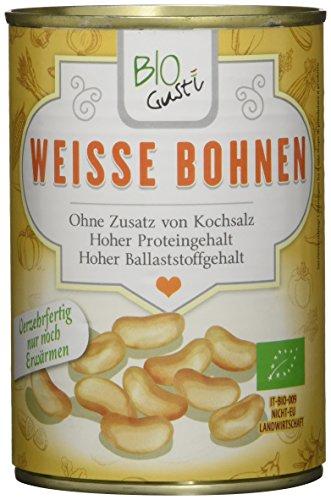 Biogustí Weiße Bohnen Bio, 12er Pack (12 x 400 g)*