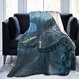 Manta Para Blanket Fresco patrón de pulpo Kraken Suave y acogedor Lujo para todas las estaciones Ligero Mantas Para 60'x50'