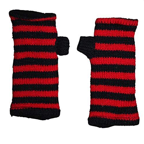 Freak Scene Freak Scene® Warmhaltende Arm und Bein Stulpen, Farbe: Armstulpen schwarz-rot gestreift